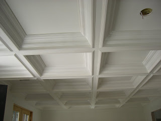 Coffered Ceiling With Painted Maple 2 By   Wall Woodworks Co ...
