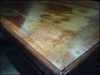 Walnut Desk With Burl Veneer 3 by - Wall Woodworks Co