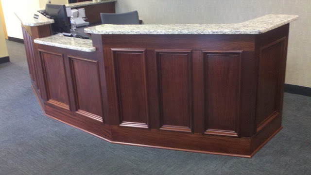 Mahogany Reception Desk Wall Woodworks Company
