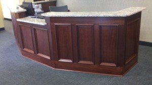 Mahogany Reception Desk 1 by - Wall Woodworks Co