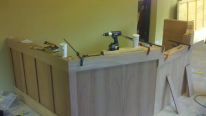 Mahogany Reception Desk 2 by - Wall Woodworks Co