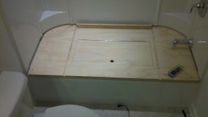 Tub to Closet Conversion 3 by - Wall Woodworks Co