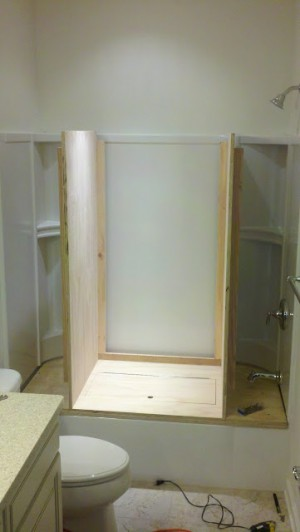 Tub to Closet Conversion 4 by - Wall Woodworks Co