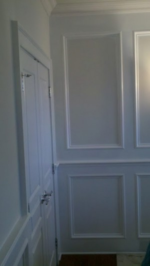 Wainscoting, Crown molding, Chair Rail, & Shadow Box 1 by - Wall Woodworks Co