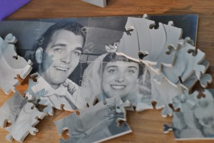 Wedding Guest Book Photo Puzzle by - Wall Woodworks Co.