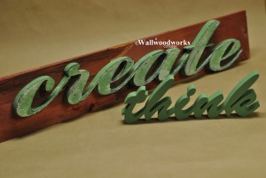 Distressed Letters 2 by - Wall Woodworks Co