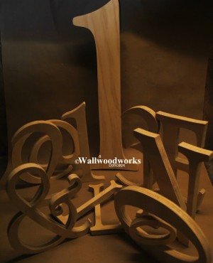 Distressed Letters 5 by - Wall Woodworks Co
