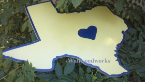 Wedding Guest Book Puzzle The Heart of Texas 2 by - Wall Woodworks Co