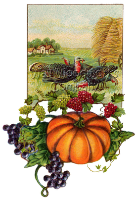 Wood Jigsaw Puzzle Turkey and a Pumpkin 9x12 by - Wall Woodworks Co