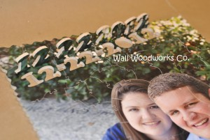12-22-2012 Wedding Guest Book Photo Puzzle by - Wall Woodworks Co