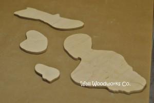 Hawaiian Islands Wedding Guest Book Puzzle 3 by - Wll Woddworks C