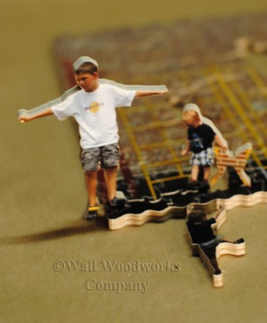 Kids at the Playground Custom Wooden Puzzle Using a Photo 2 by - Wall Woodworks Co.