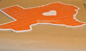 Wedding Guest Book Puzzle Shaped Like Texas 1 by - Wall Woodworks Company