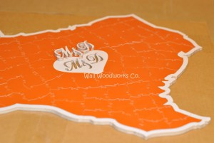 Wedding Guest Book Puzzle Shaped Like Texas 3 by - Wall Woodworks Company