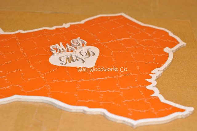Wedding Guest Book Puzzle Shaped Like Texas 3 By Wall Woodworks Company