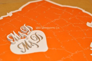 Wedding Guest Book Puzzle Shaped Like Texas 4 by - Wall Woodworks Company