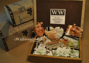 Wood Wedding Guest Book Puzzle A Jigsaw Puzzle Guest Book by - Wall Woodworks Co
