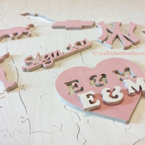 accent wedding puzzle - Wall Woodworks Company