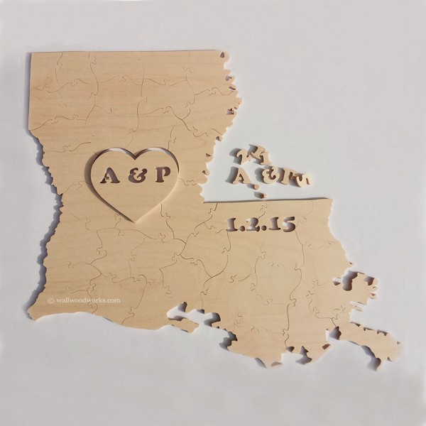 natural state wedding puzzle - Wall Woodworks Company
