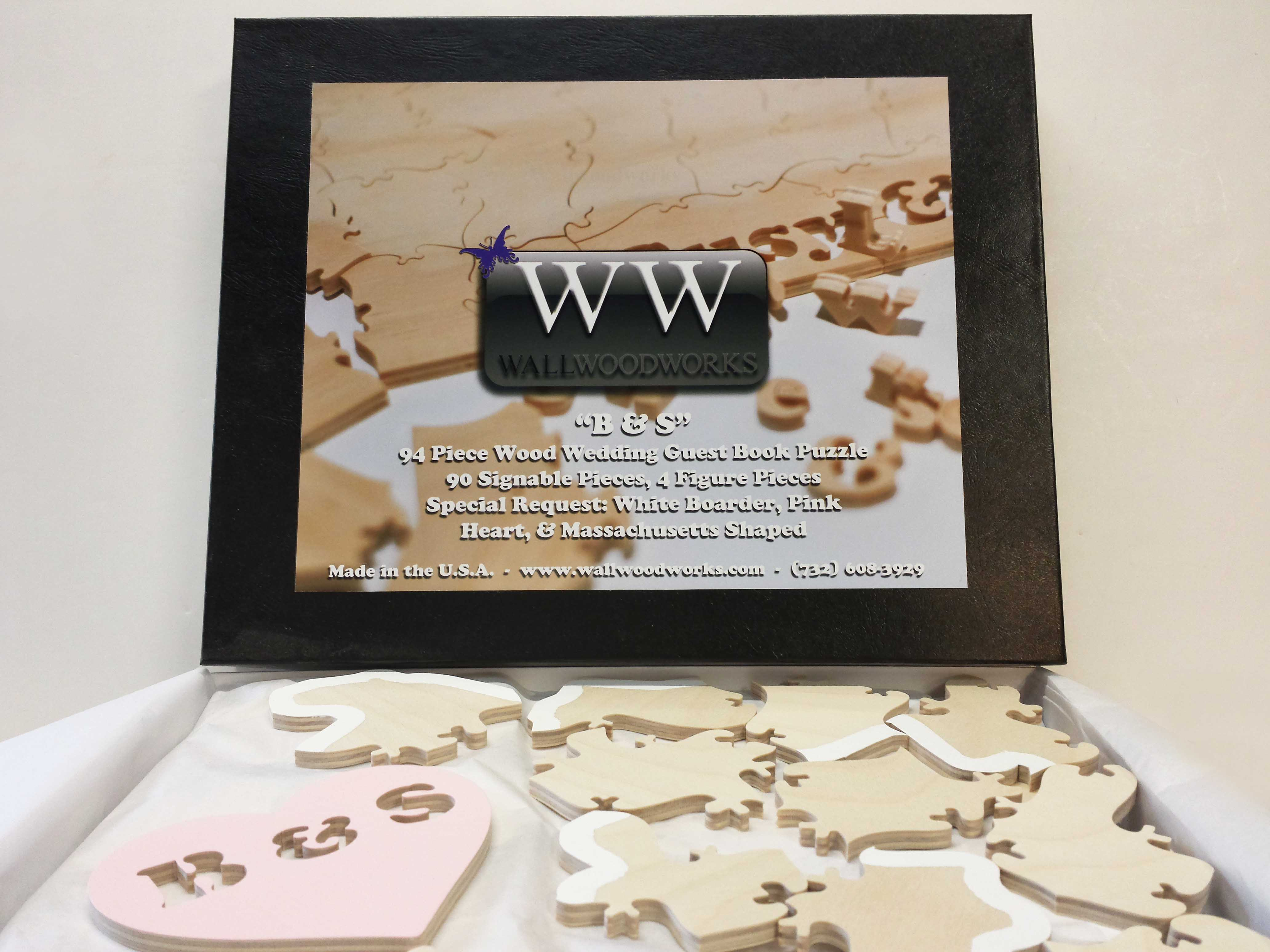 natural state wedding puzzle guest book wall woodworks