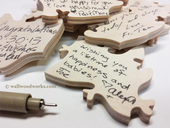 ampersand wedding puzzle guest book wall woodworks company