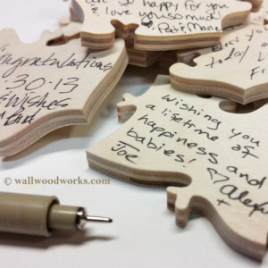 Signed Wedding Guest Book Puzzle  Pieces - Wall Woodworks Company