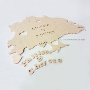 Tree Wedding Guest Book Puzzle - Wall Woodworks Company