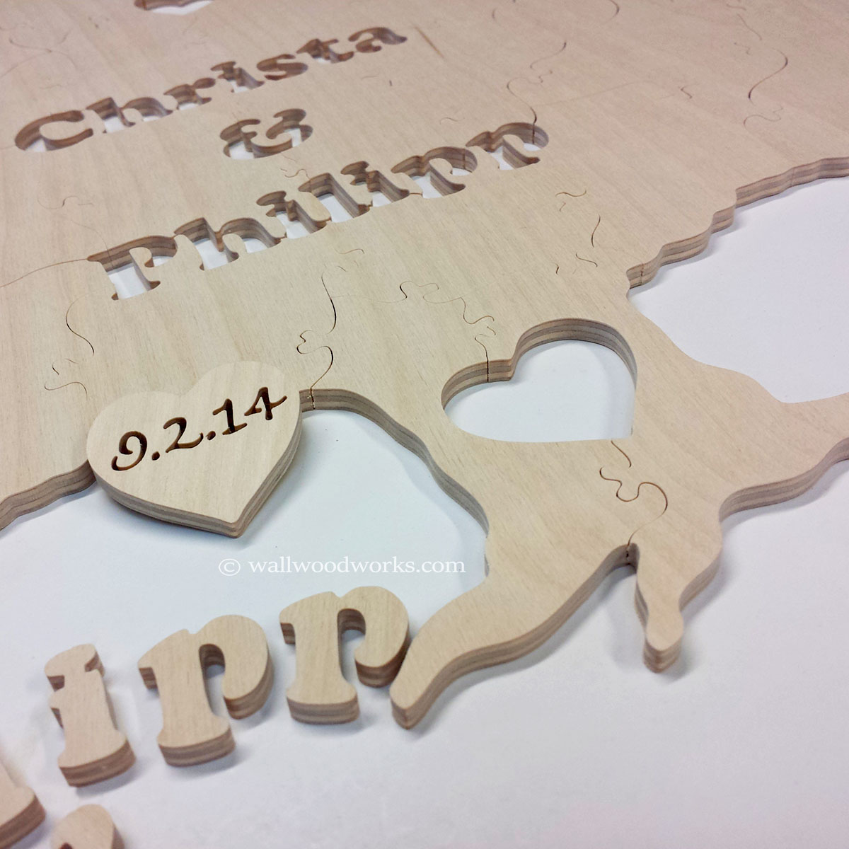 Tree Wedding Guest Book Puzzle