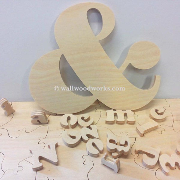 Ampersand Wedding Puzzle - Wall Woodworks Company