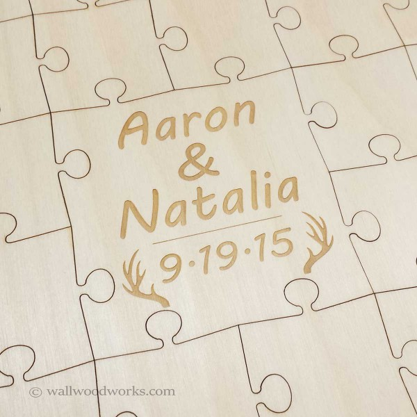 Antlers Wedding Puzzle2 - Wall Woodworks Company
