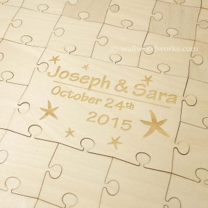 Engraved Starfish Wedding Puzzle - Wall Woodworks Company