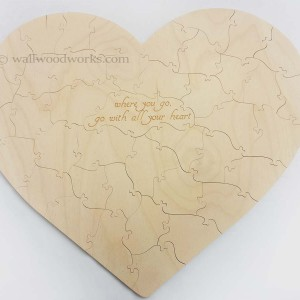 Heart Guest Book Puzzle - Wall Woodworks Company