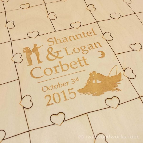 Outdoors Wedding Puzzle Guest Book - Wall Woodworks Company