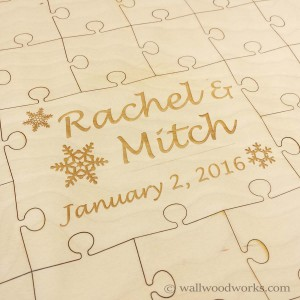 Winter Wedding Puzzle - Wall Woodworks Company