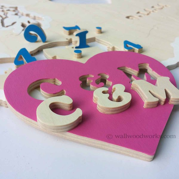 State Wedding Puzzle - Wall Woodworks Company