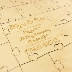 Wedding Anniversary Guest Book Puzzle  - Wall Woodworks Company