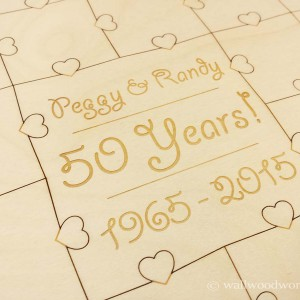 Wedding Anniversary Puzzle2 - Wall Woodworks Company