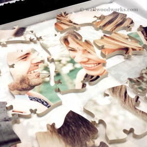 Wedding Guest Book Photo Puzzle - Wall Woodworks Company