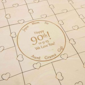 Anniversary Guest Book Puzzle