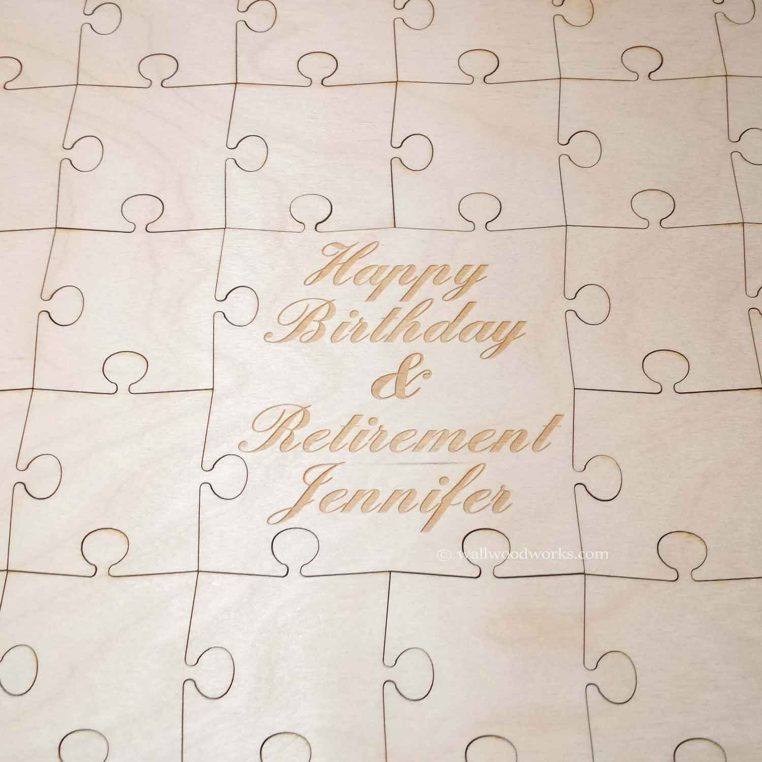 birthday guest book puzzle wall woodworks company