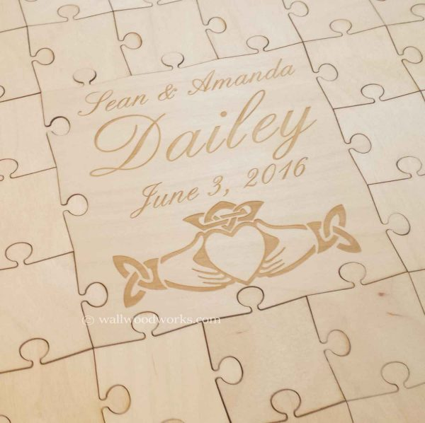 claddagh ring wedding guest book puzzle