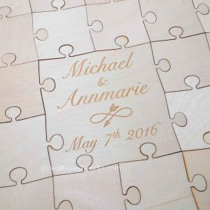 Infinity Arrow Wedding Guest Book Puzzle