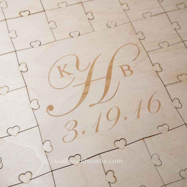 Initials Wedding Guest Book Puzzle