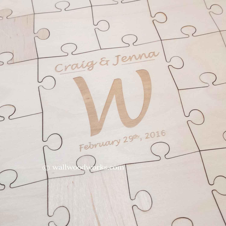 Letter Wedding Guest Book Puzzle