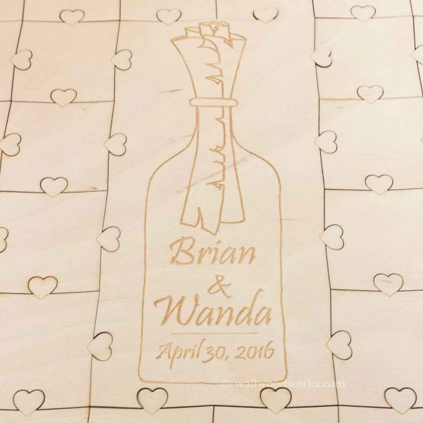 Message in a Bottle Wedding Guest Book Puzzle