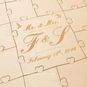 Mr & Mrs Wedding Guest Book Puzzle