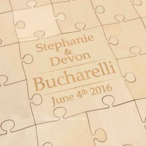 Names Wedding Guest Book Puzzle