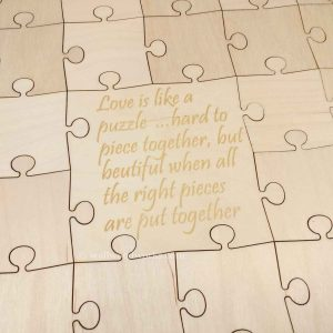 Wedding Quote Guest Book Puzzle