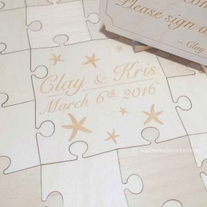 starfish wedding puzzle guest book