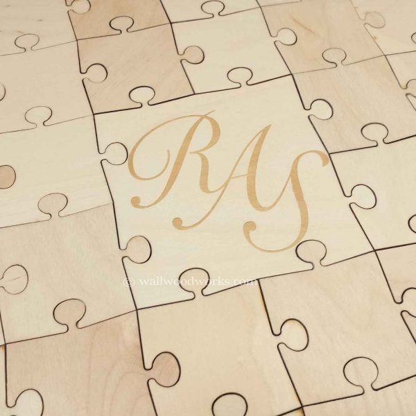 Three Letters Wedding Guest Book Puzzle